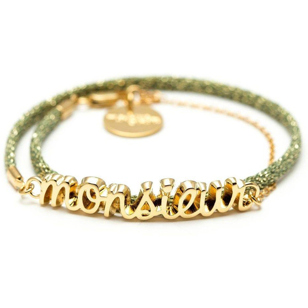 Bracelet cordon plaqué or MONSIEUR - MONSIEUR SIMONE - Modalova