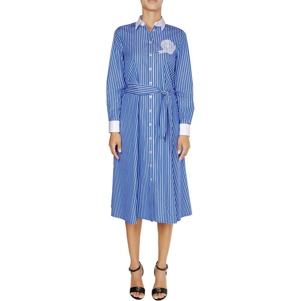 Robe chemise rayée boutonnée - Tommy Hilfiger - Modalova