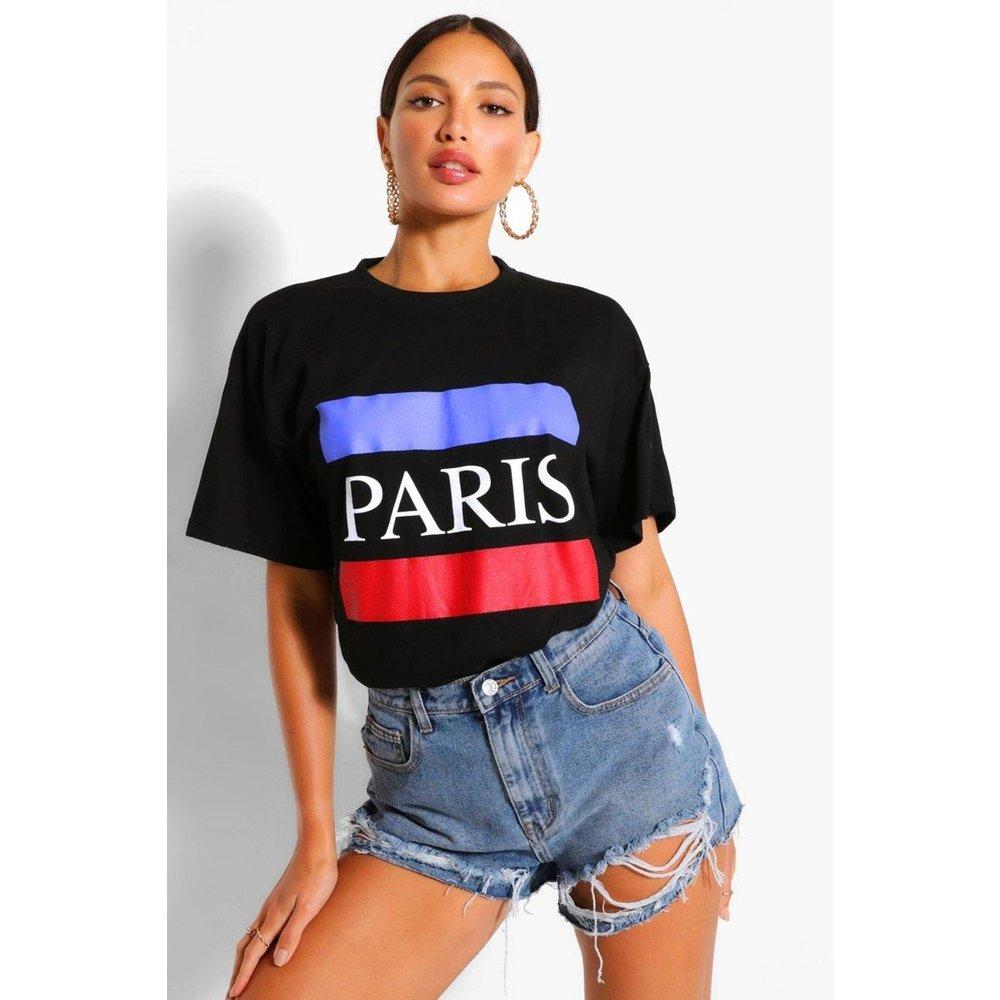 Tee-shirt col rond manches courtes - BOOHOO TALL - Modalova