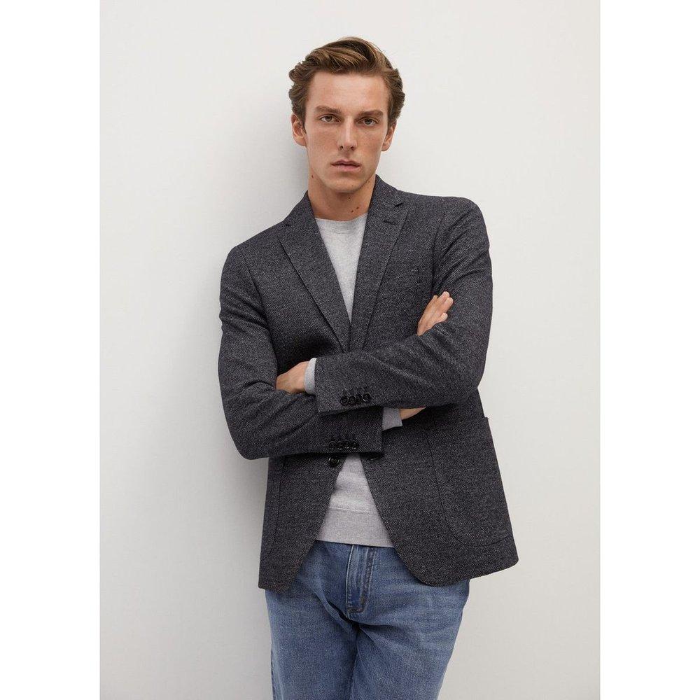 Veste de costume croisée coton laine - mango man - Modalova