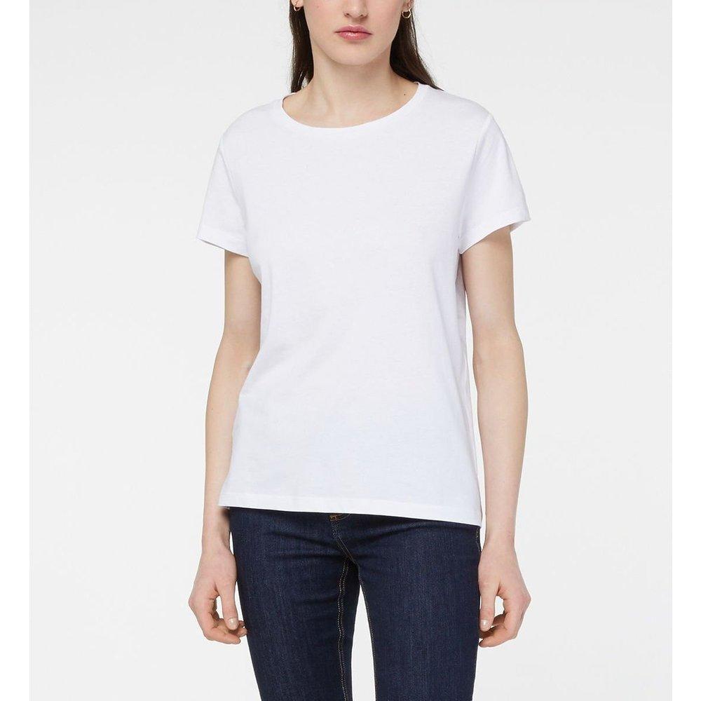 T-shirt Droit Den Coton - GALERIES LAFAYETTE - Modalova