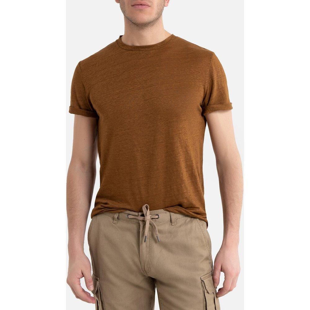 T-shirt en lin col rond manches courtes - LA REDOUTE COLLECTIONS - Modalova