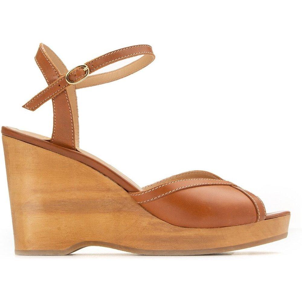 Sandales en cuir talon compensé - VANESSA SEWARD X LA REDOUTE COLLECTIONS - Modalova