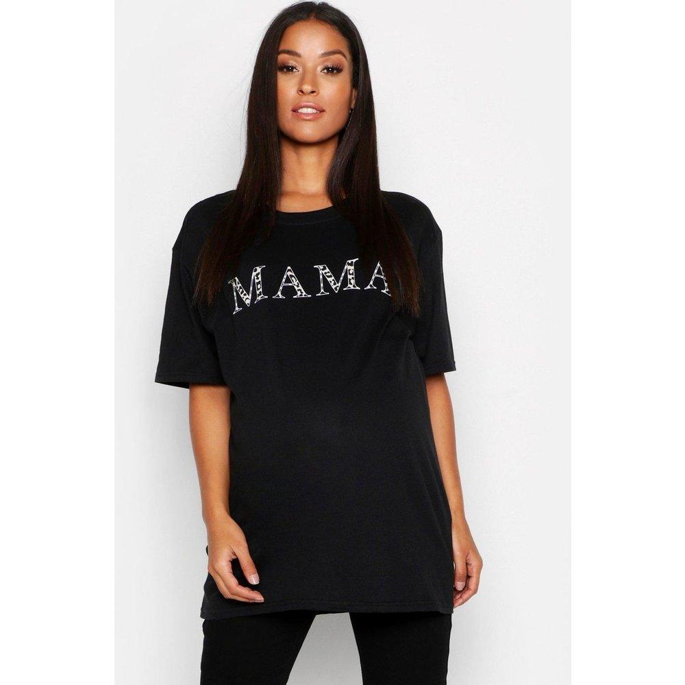 Tee-shirt de grossesse col rond manches courtes - BOOHOO MATERNITY - Modalova