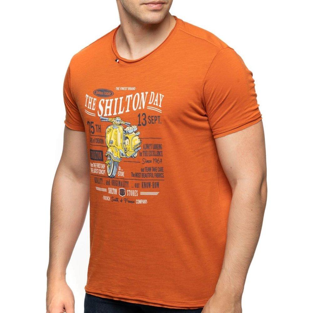 T-shirt col rond vintage SCOOTER - SHILTON - Modalova