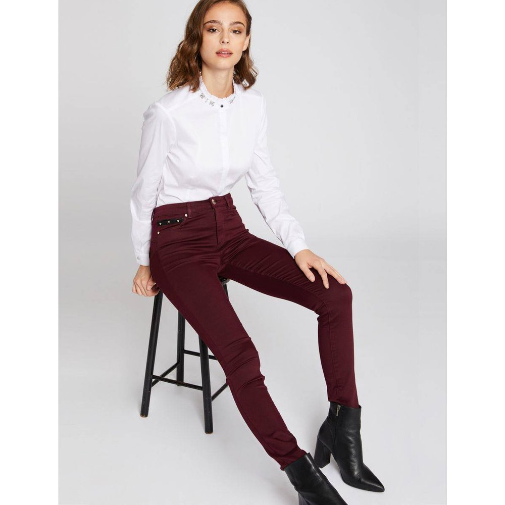 Pantalon slim avec rivets - Morgan - Modalova
