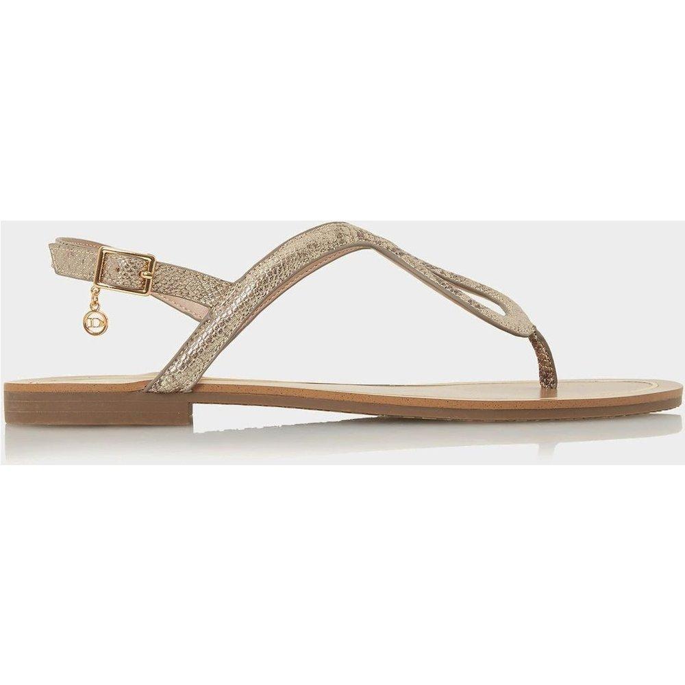 Sandales plates à entredoigt et boucle - LINQ - DUNE LONDON - Modalova