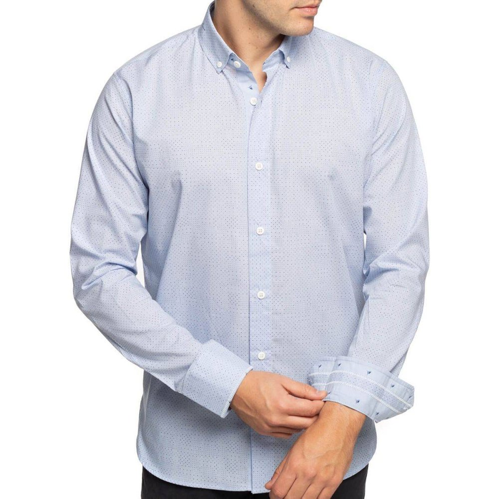 Chemise petits motifs manches longues - SHILTON - Modalova