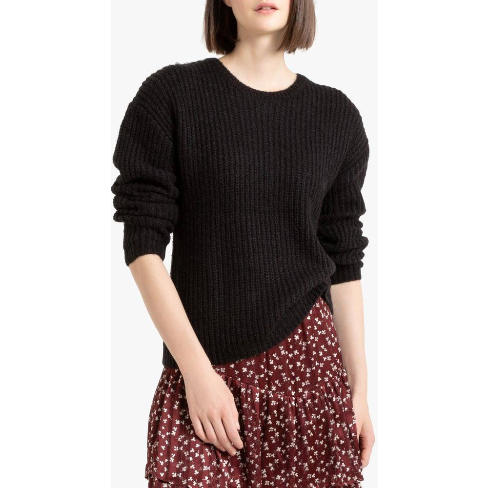 Pull col rond en grosse maille, coupe ample - LA REDOUTE COLLECTIONS - Modalova