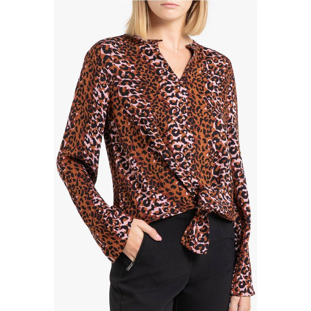 Blouse imprimée col V à manches longues - SCOTCH AND SODA - Modalova