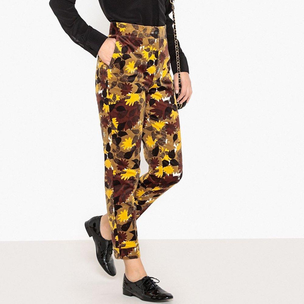 Pantalon taille haute, velours imprimé - LA REDOUTE COLLECTIONS - Modalova