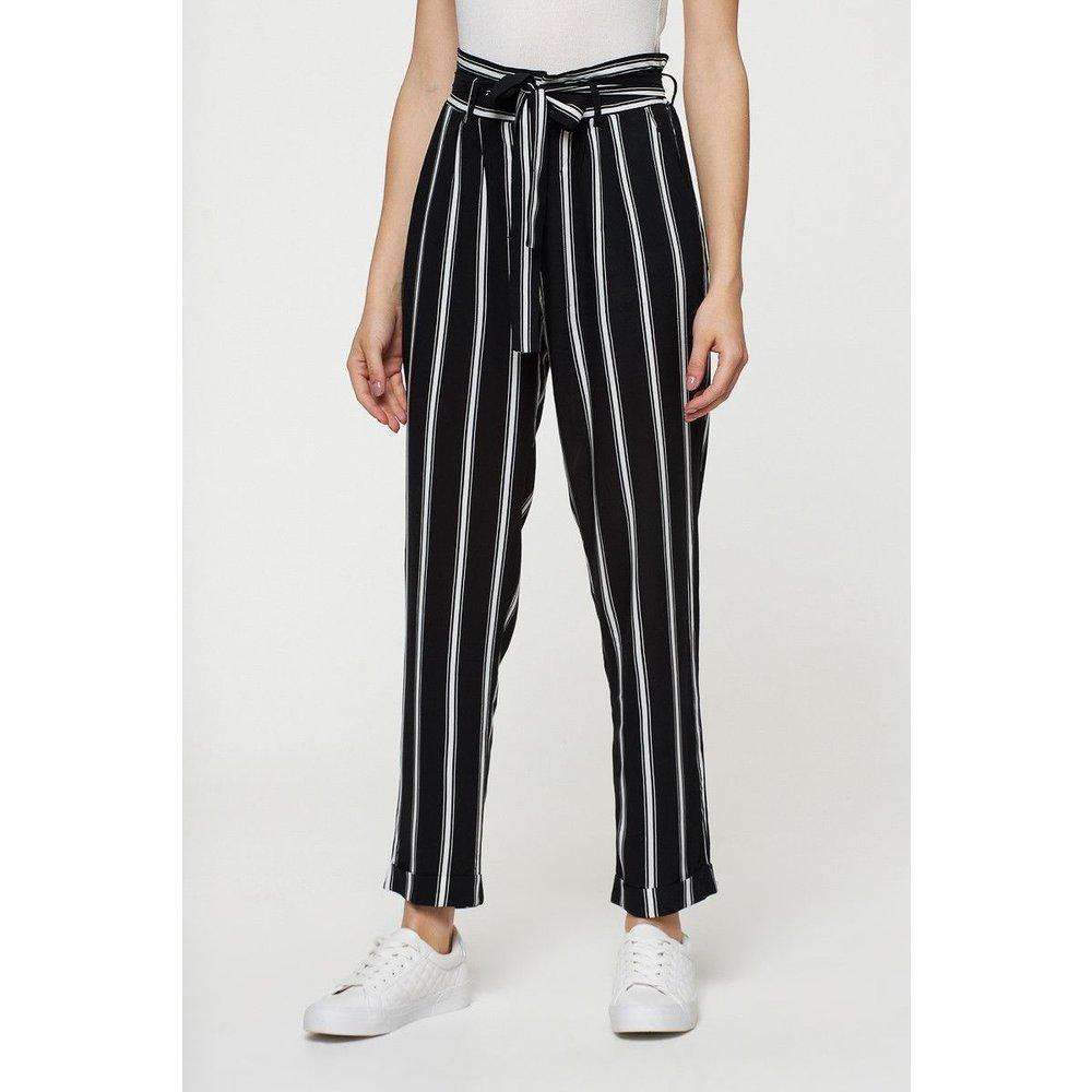 Pantalon rayé avec ceinture - BEST MOUNTAIN - Modalova