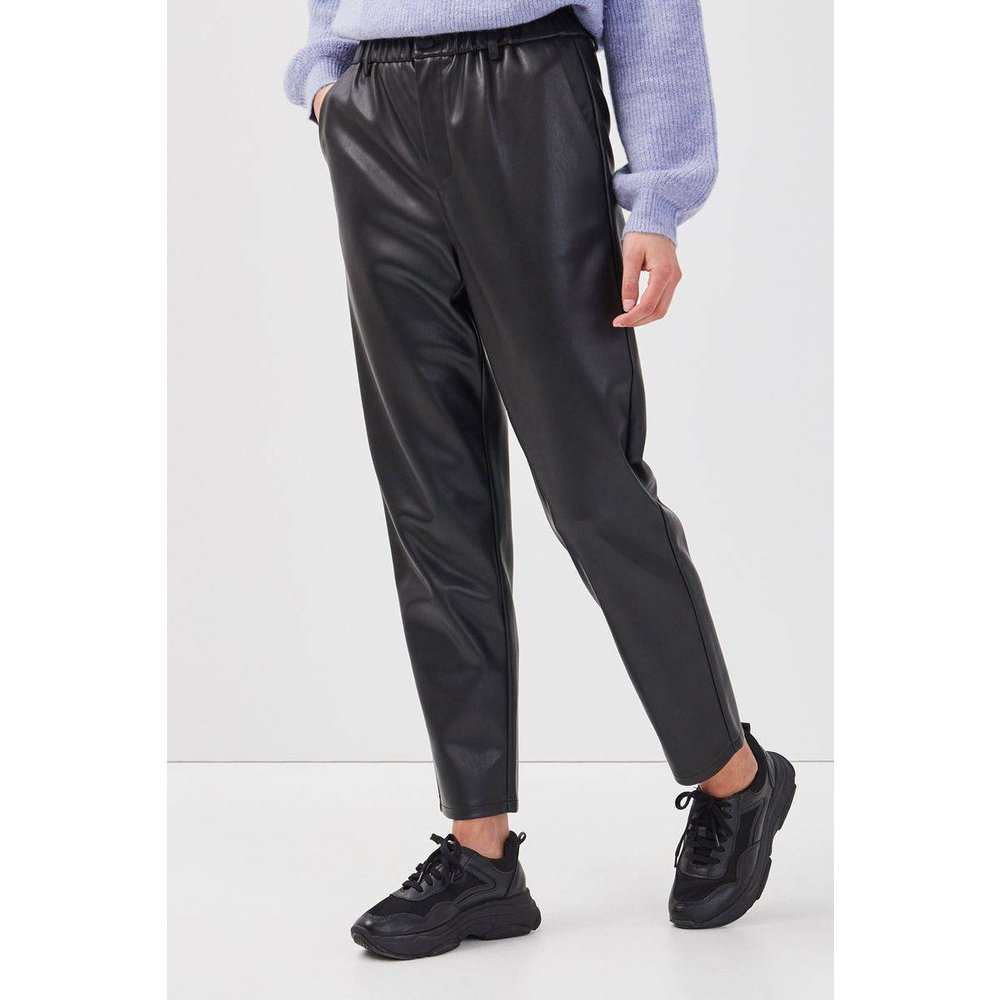 Pantalon similicuir taille haute - CACHE-CACHE - Modalova