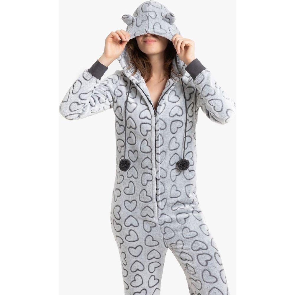 Combinaison pyjama imprimée cœurs - LA REDOUTE COLLECTIONS - Modalova
