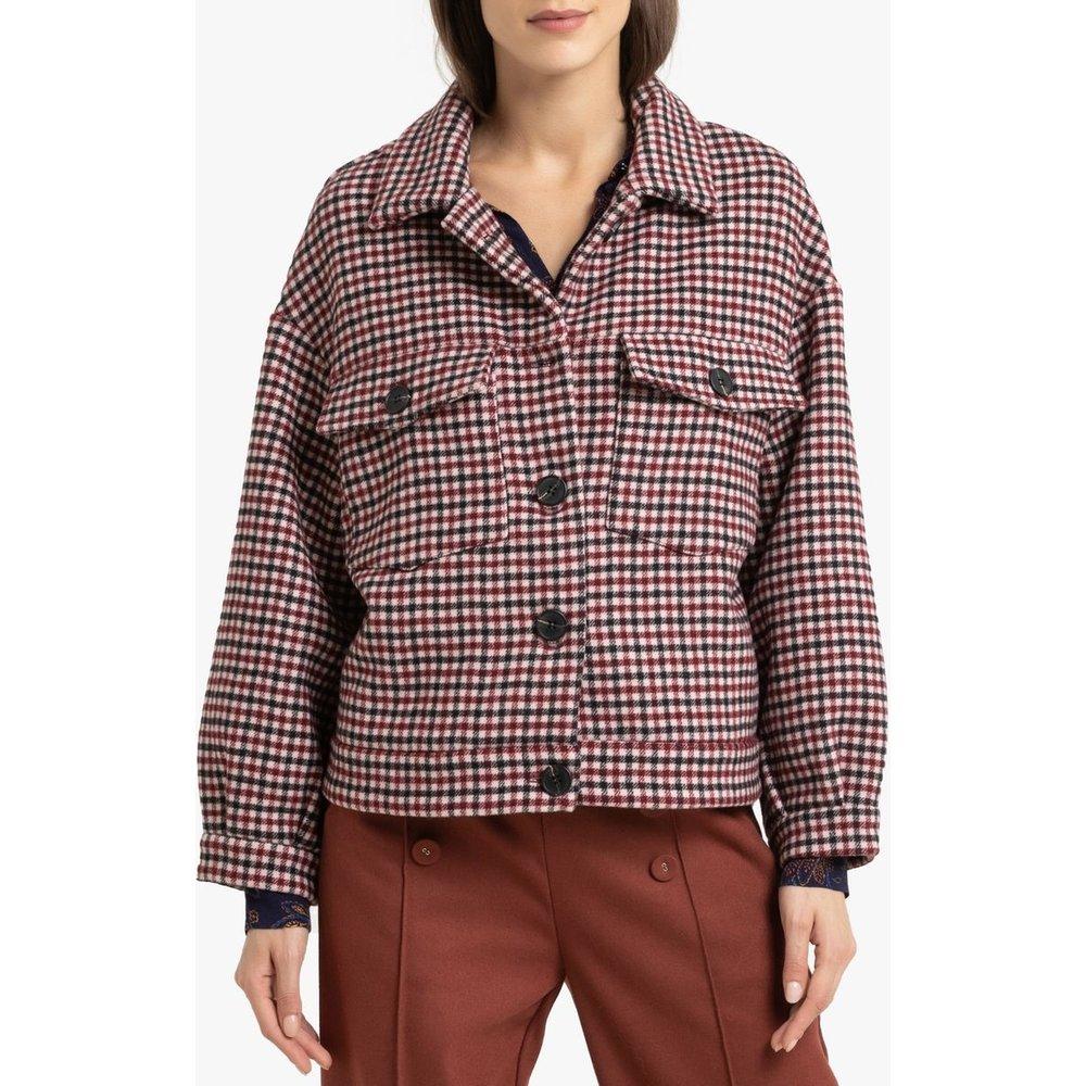 Manteau court boutonné à carreaux DANIELA - Suncoo - Modalova