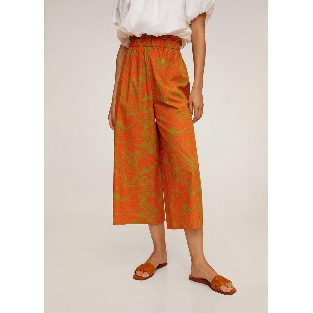 Pantalon imprimé tropical - Mango - Modalova