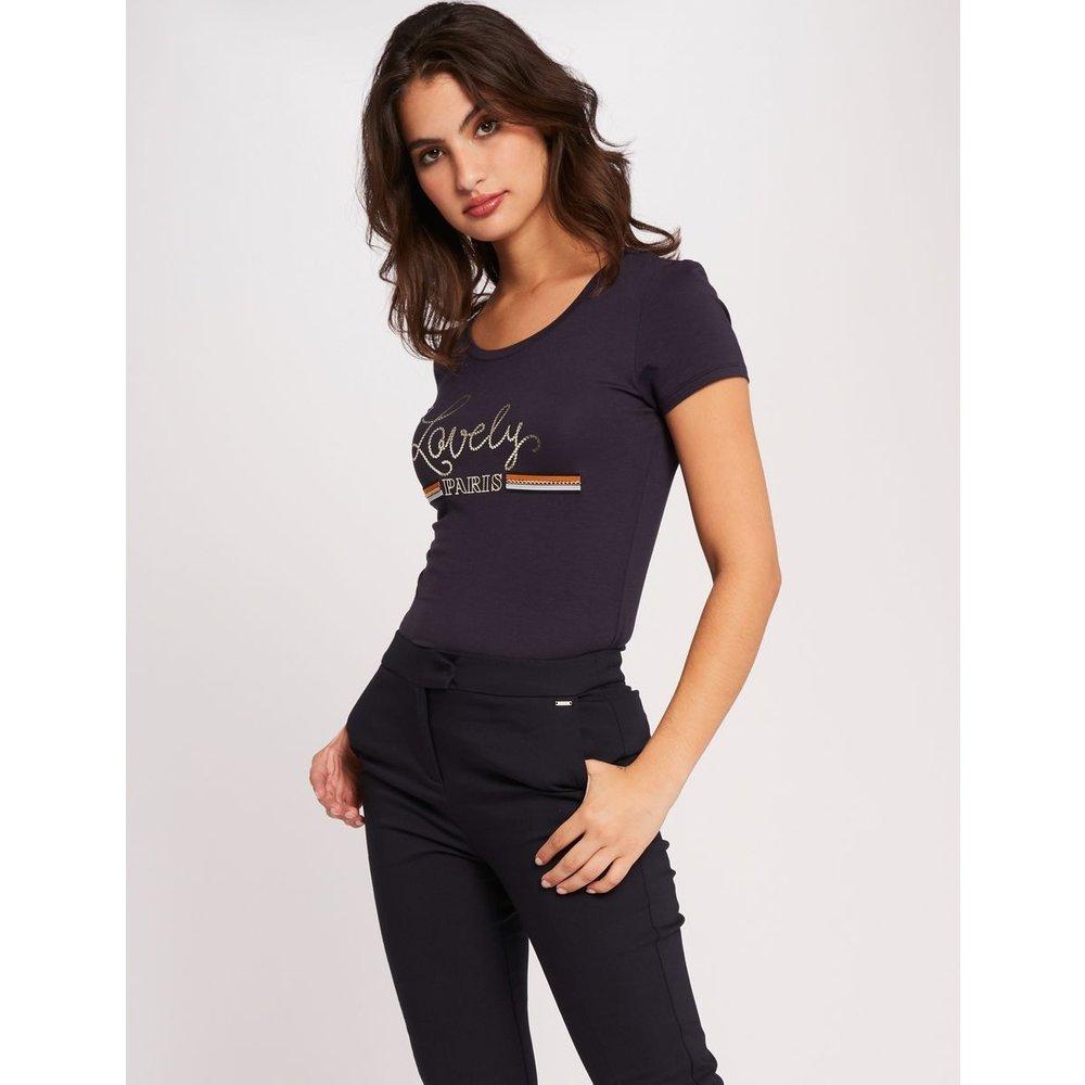 Pantalon droit taille standard à pinces - Morgan - Modalova
