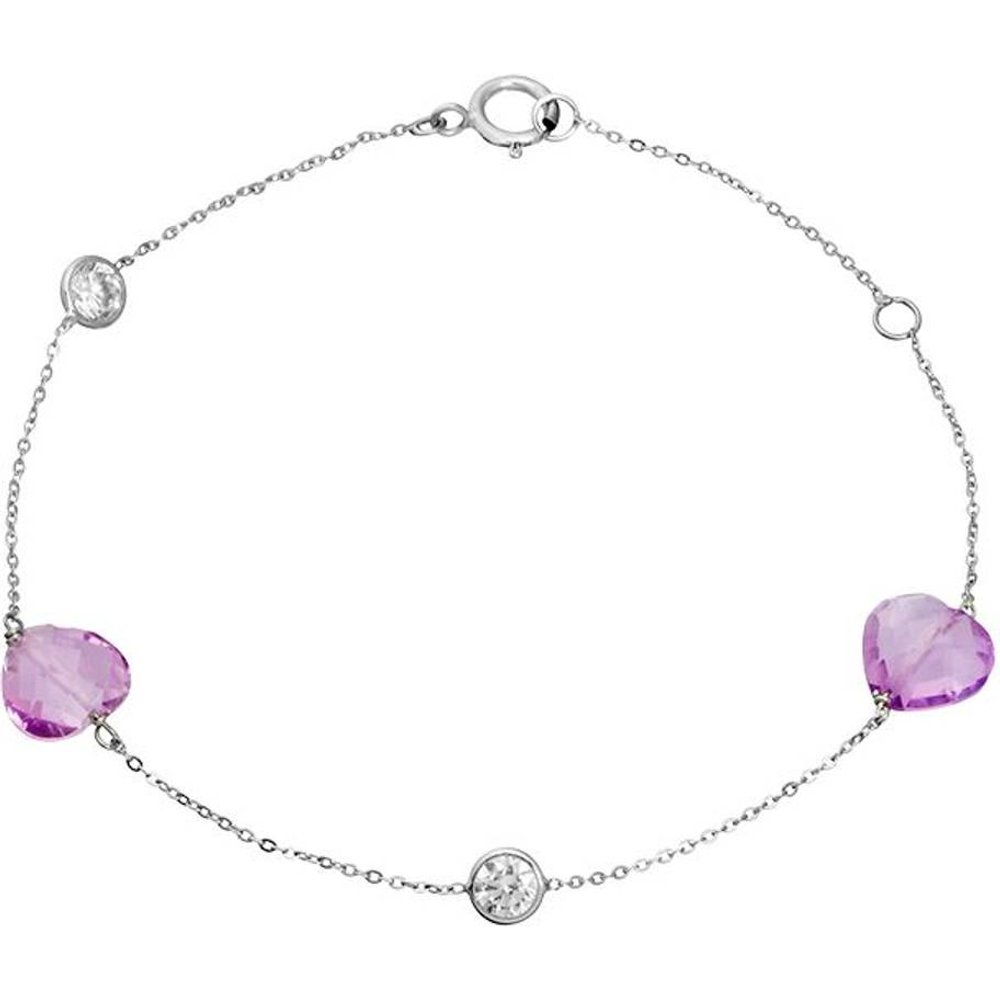 Bracelet en Or 375/1000 et Améthyste - CLEOR - Modalova