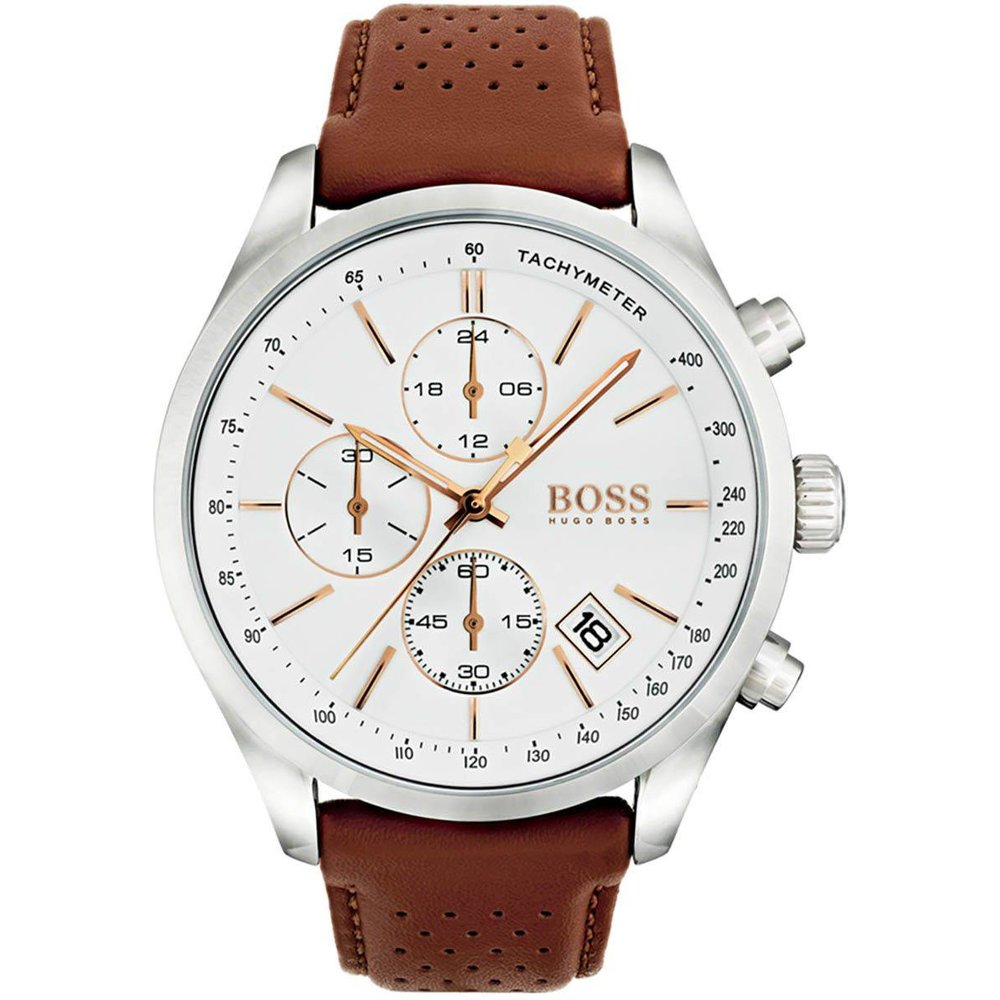 Montre BLACK en Cuir Marron - BOSS - HUGO BOSS - Modalova