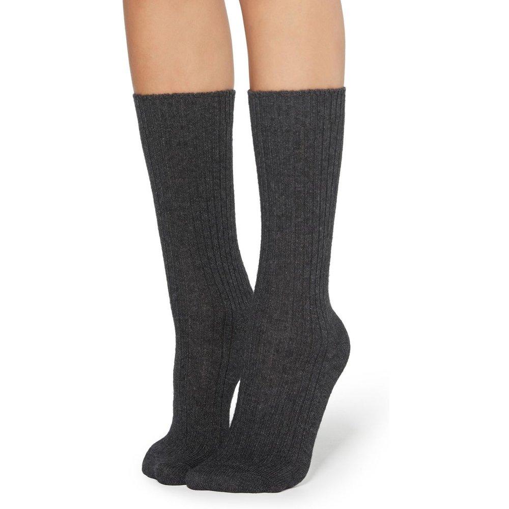 Chaussettes à côtes en laine et cachemire - CALZEDONIA - Modalova