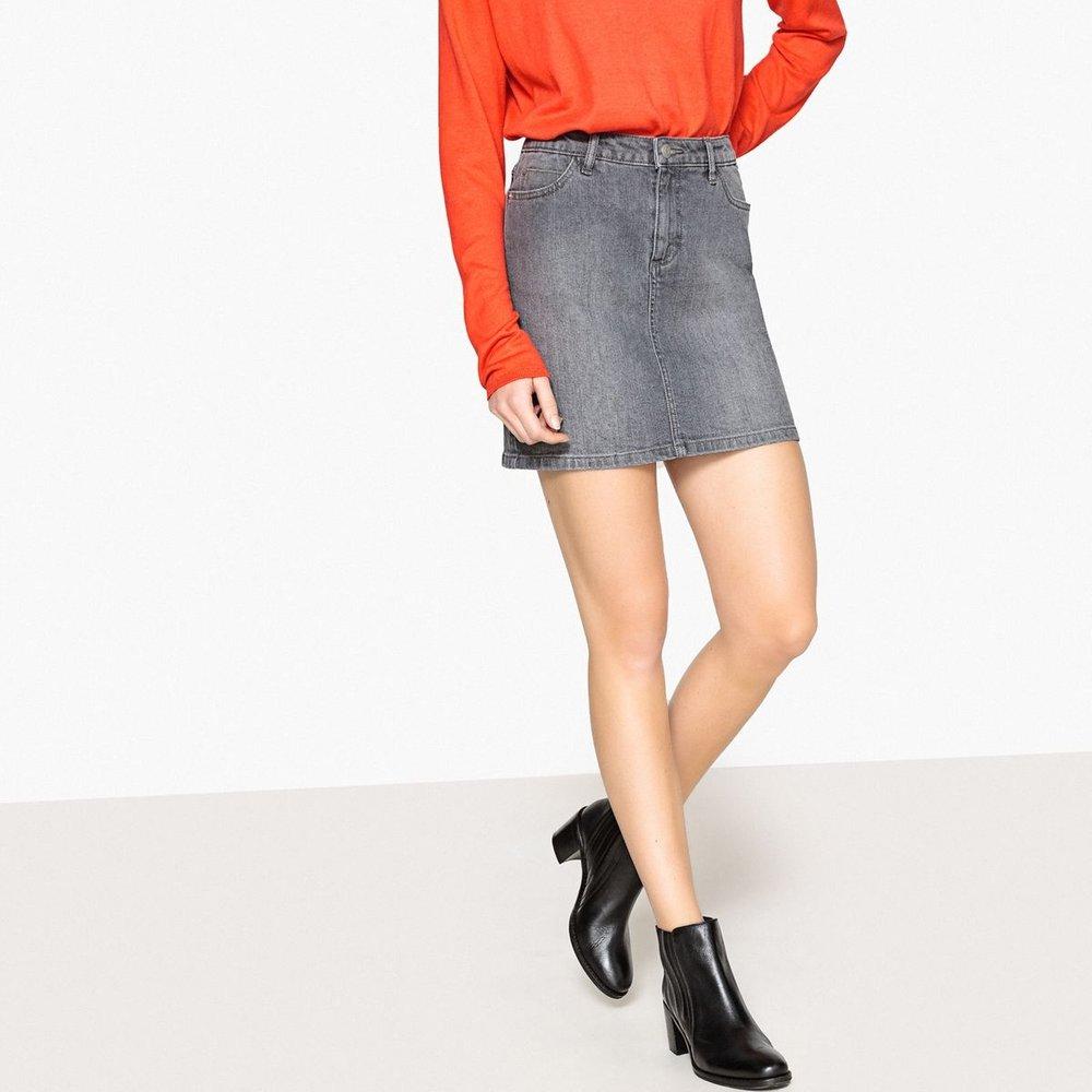 Jupe courte, droite, en jean - LA REDOUTE COLLECTIONS - Modalova