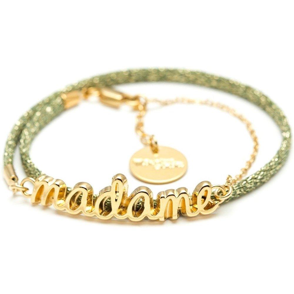 Bracelet cordon plaqué or MADAME - MONSIEUR SIMONE - Modalova