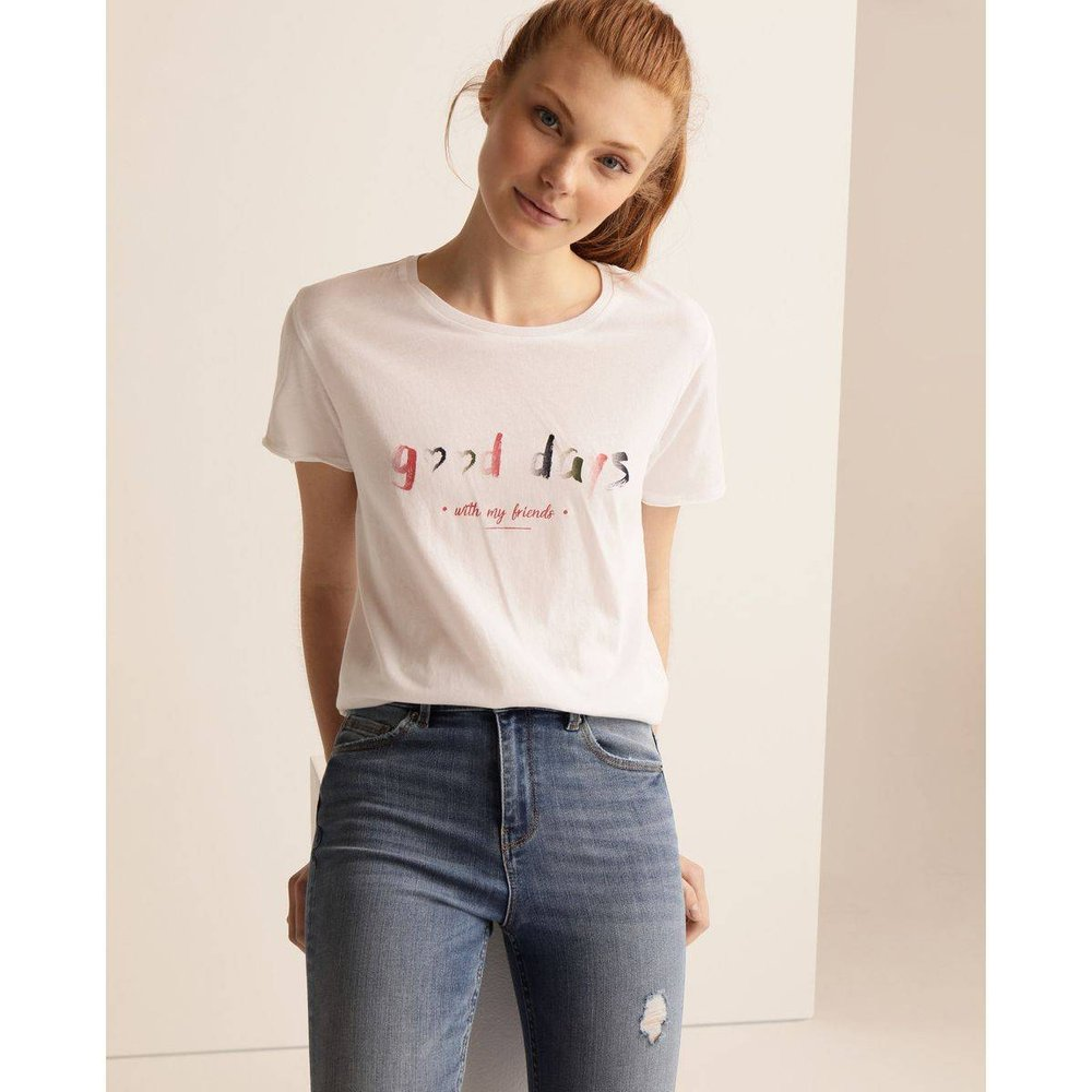 Tshirt 100 % coton avec inscription devant - GREEN COAST - Modalova