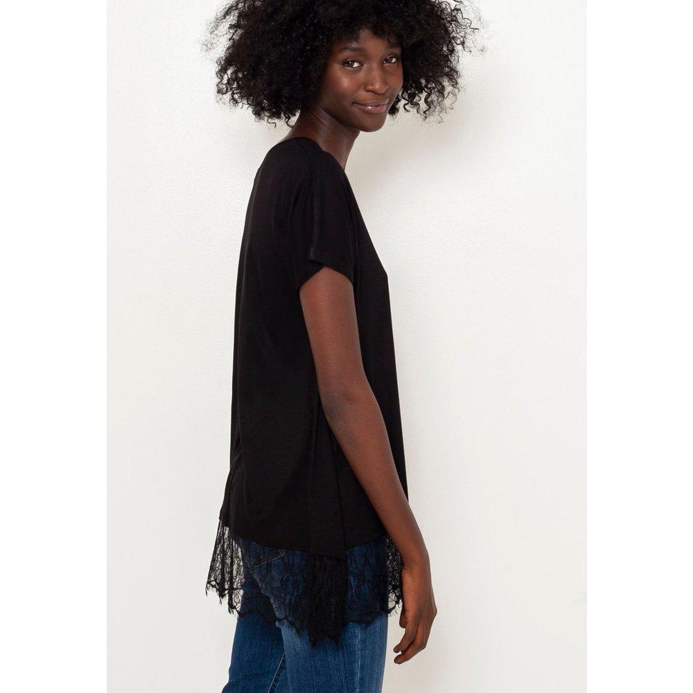 T-shirt tunique dentelle - CAMAIEU - Modalova