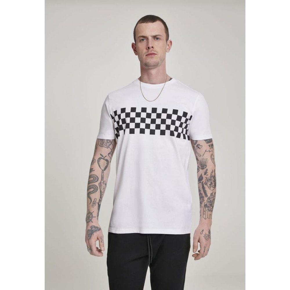 T-shirt bande à carreaux - URBAN CLASSICS - Modalova