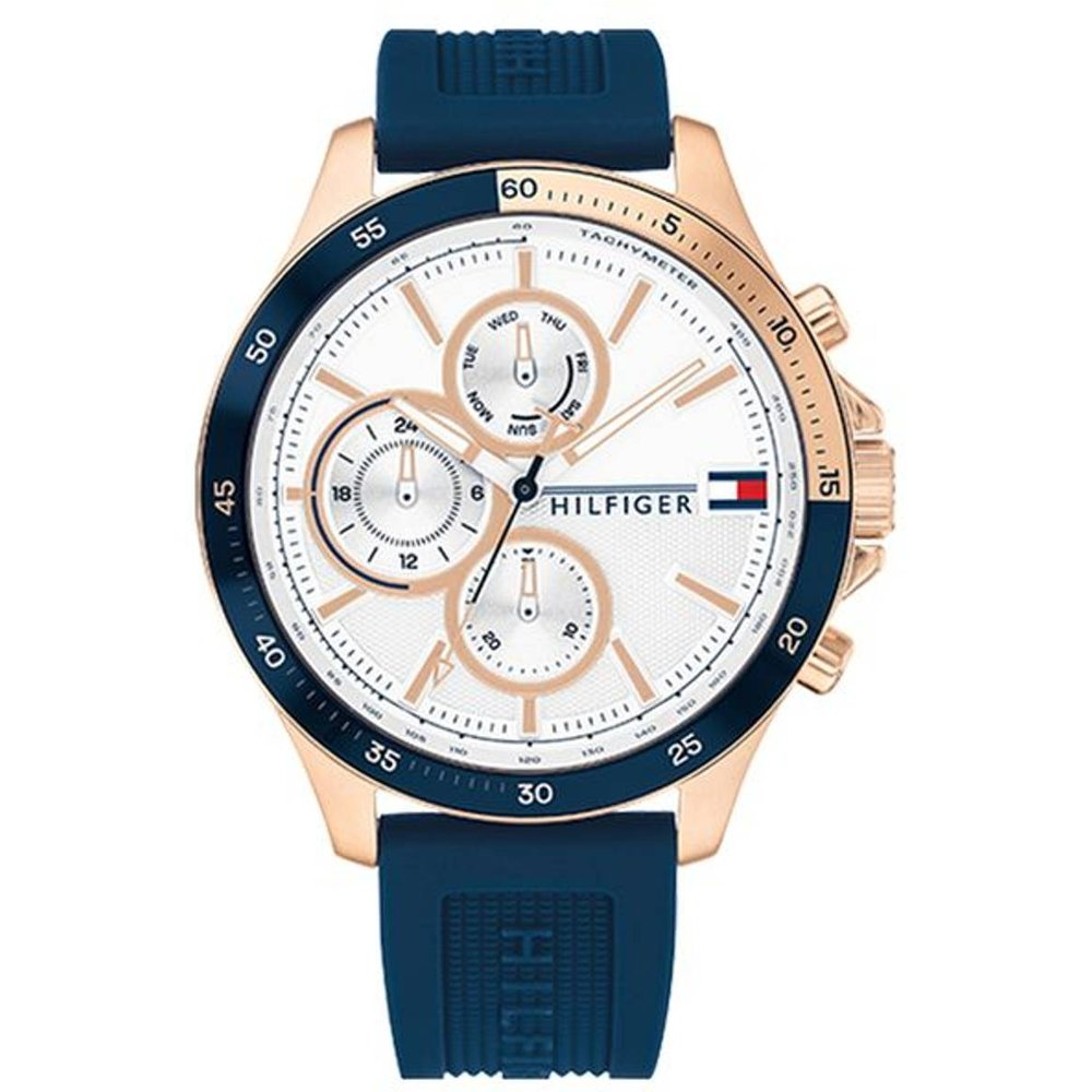 Montre Analogique Silicone BANK - Tommy Hilfiger - Modalova