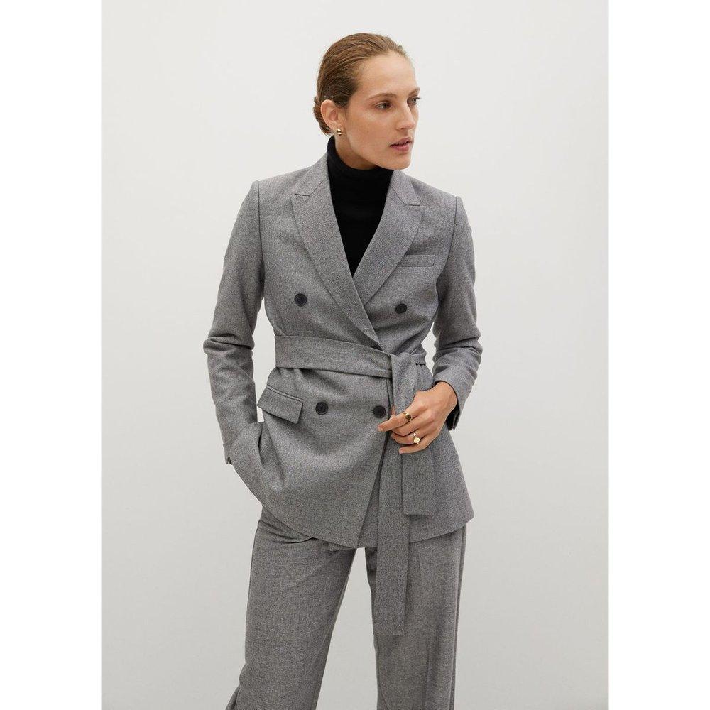 Veste costume ceinture - Mango - Modalova