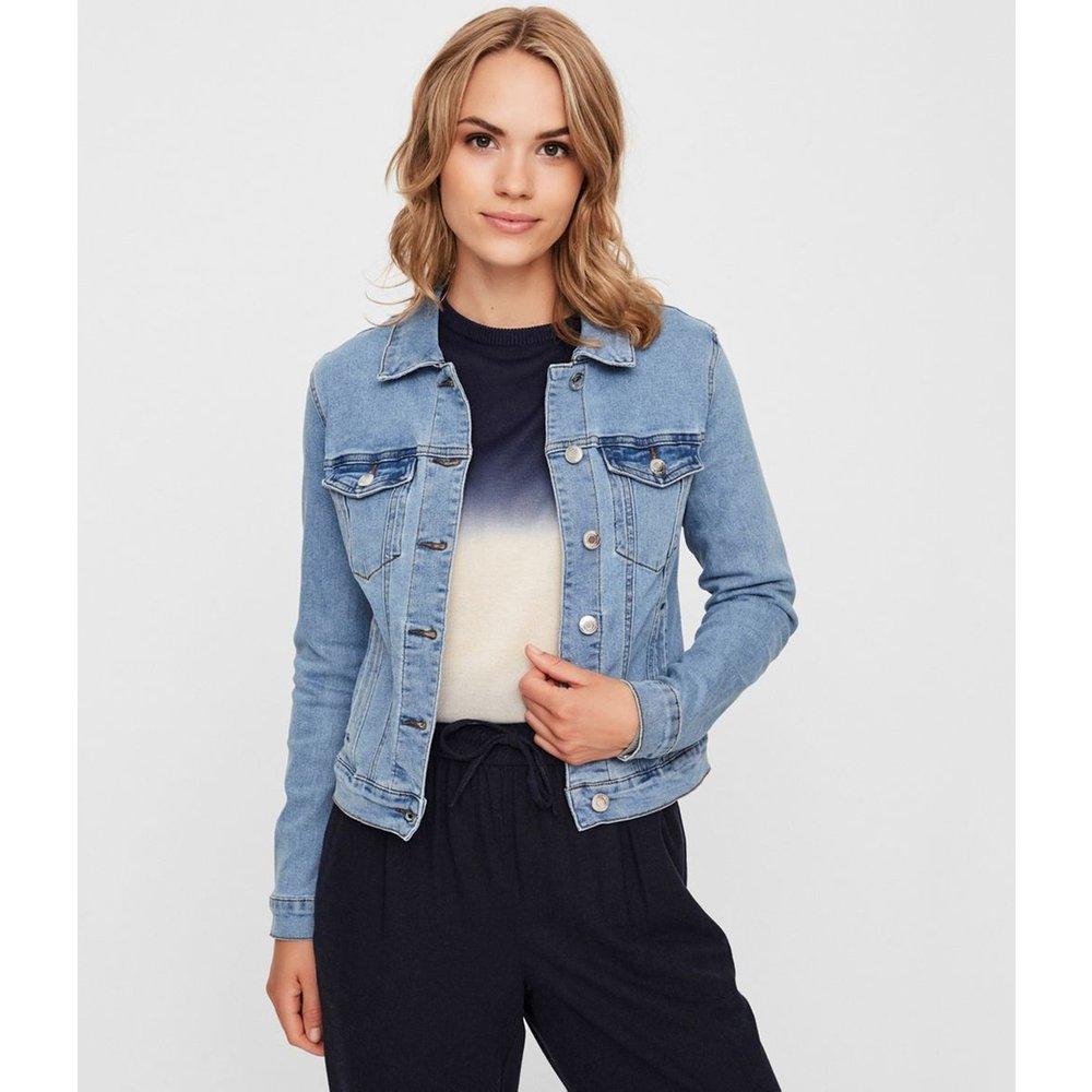 Veste en jean courte, coupe droite - Vero Moda - Modalova