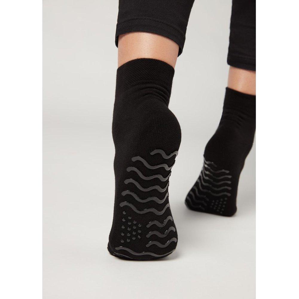 Chaussettes de sport anti-dérapantes ultra-courtes - CALZEDONIA - Modalova