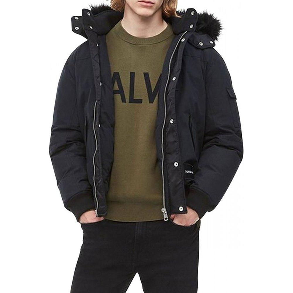 Blouson à capuche fourrure - Calvin Klein - Modalova