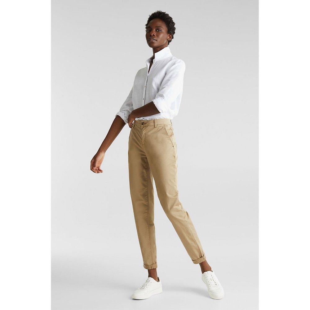 Pantalon chino en coton bio L32 - Esprit - Modalova