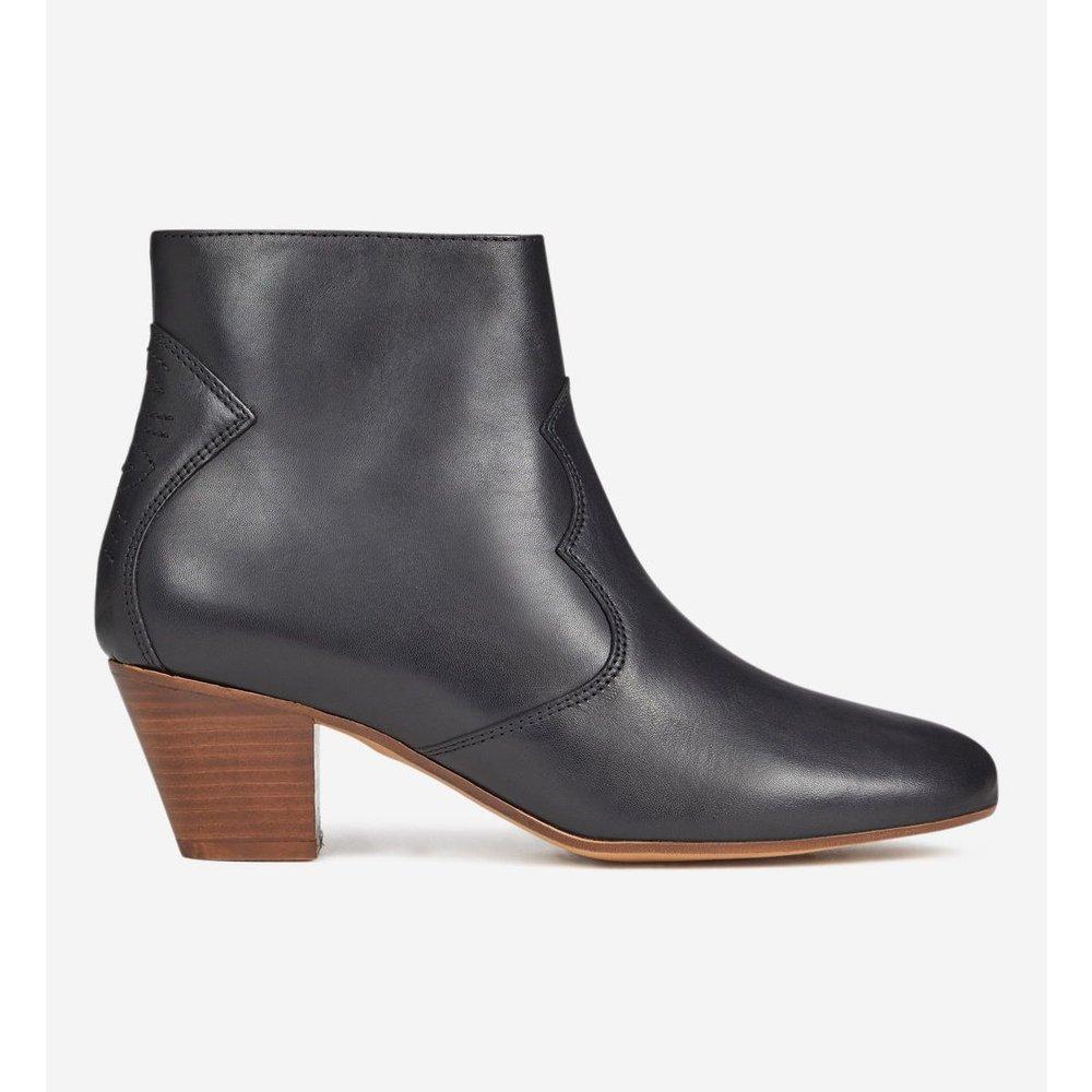 Boots Western Prunille Cuir - GALERIES LAFAYETTE - Modalova