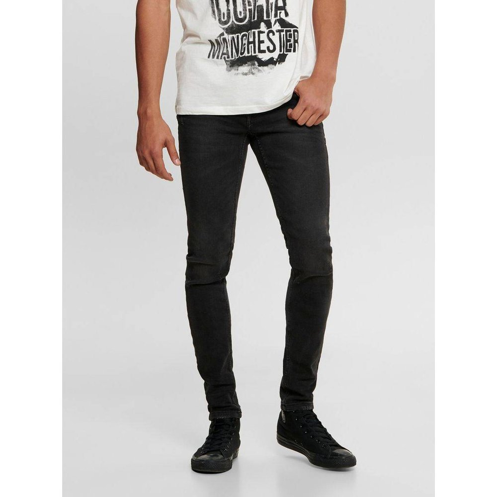 Jean skinny ONSWarp black washed - ONLY ET SONS - Modalova
