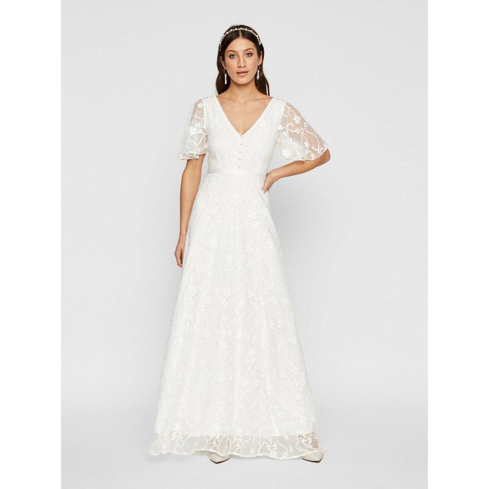 Robe de mariée Fleurs brodées - YAS - Modalova