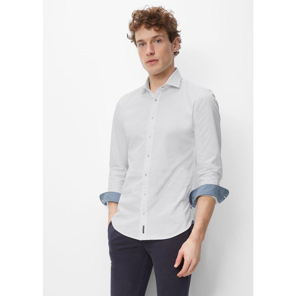 Chemise à manches longues coupe shaped en fils fins - Marc O'Polo - Modalova