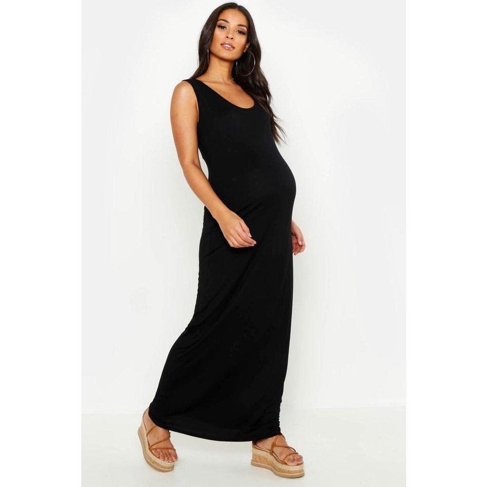 Robe droite de grossesse longue col rond sans manches - BOOHOO MATERNITY - Modalova