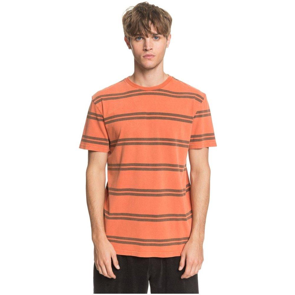 T-shirt coton à poche, manches courtes, rayé - Quiksilver - Modalova