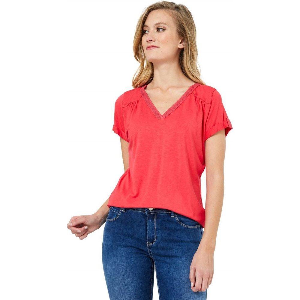 T-Shirt col V uni - RIU PARIS - Modalova