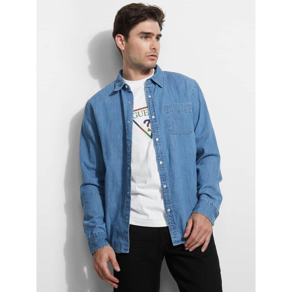 Chemise En Jeans à Poche - Guess - Modalova
