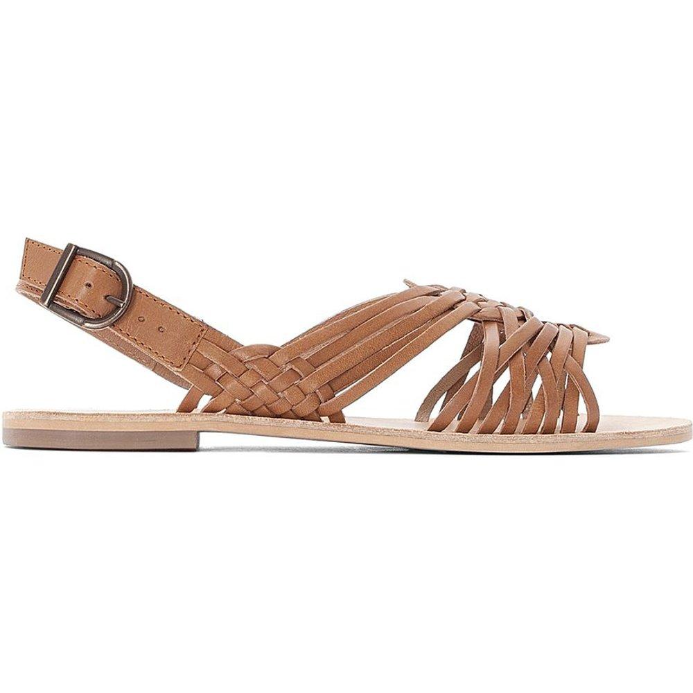 Sandales plates tressées en cuir - LA REDOUTE COLLECTIONS - Modalova
