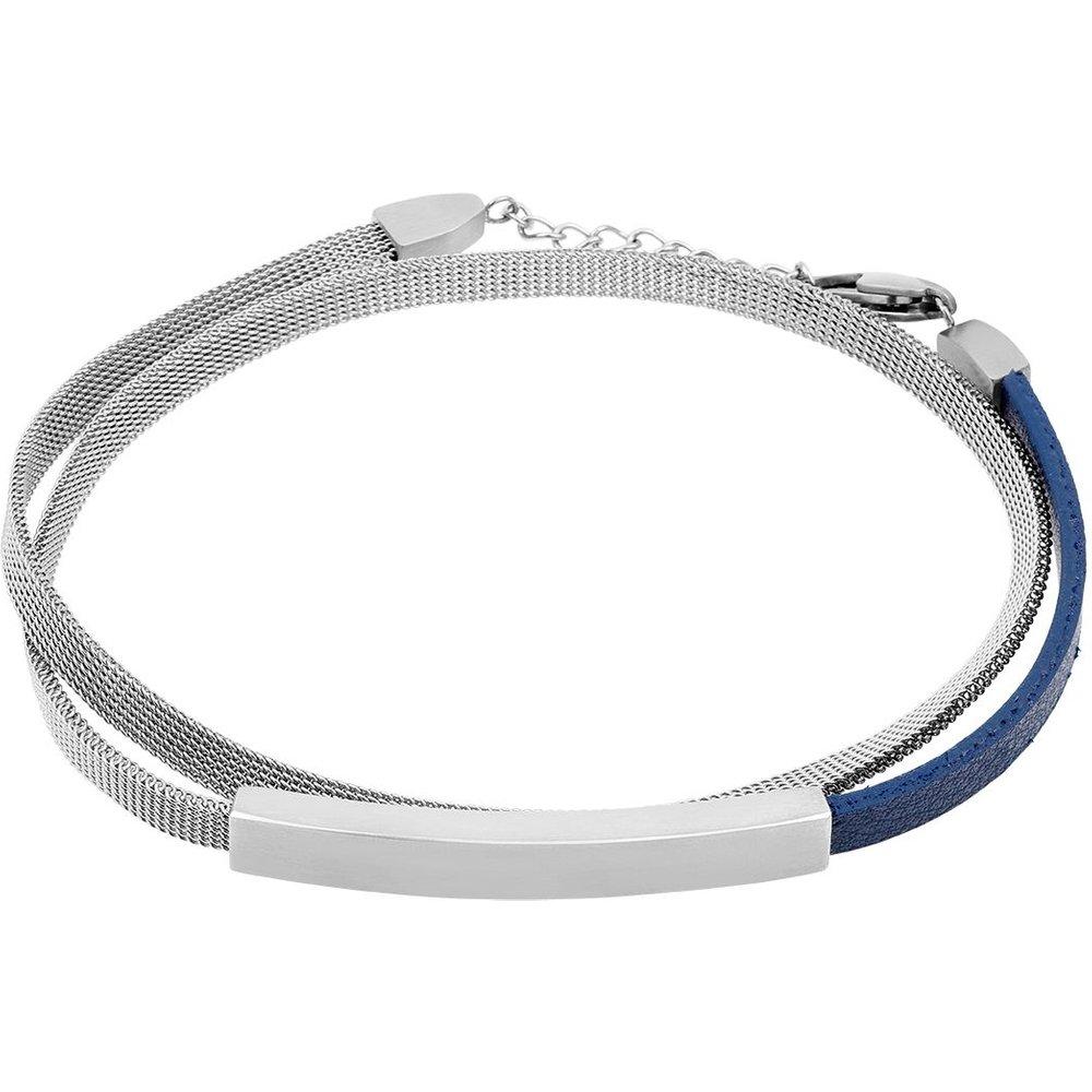Bracelet en Acier et Cuir - ZEPHYR - Modalova