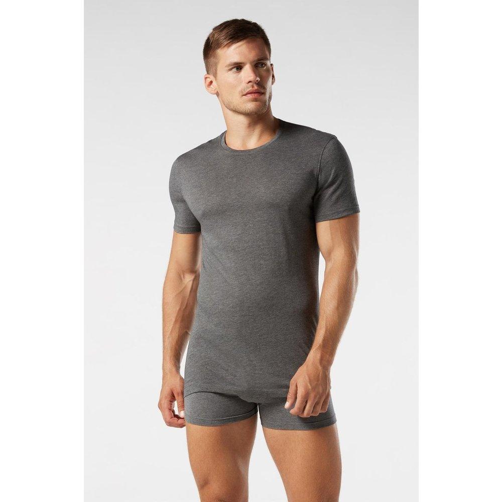 T-Shirt manches courtes ras de cou en coton supima® extra-fin - INTIMISSIMI - Modalova