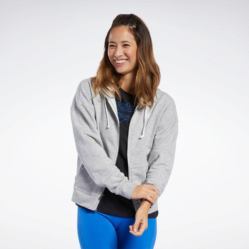 Sweat zippé à capuche training - REEBOK SPORT - Modalova