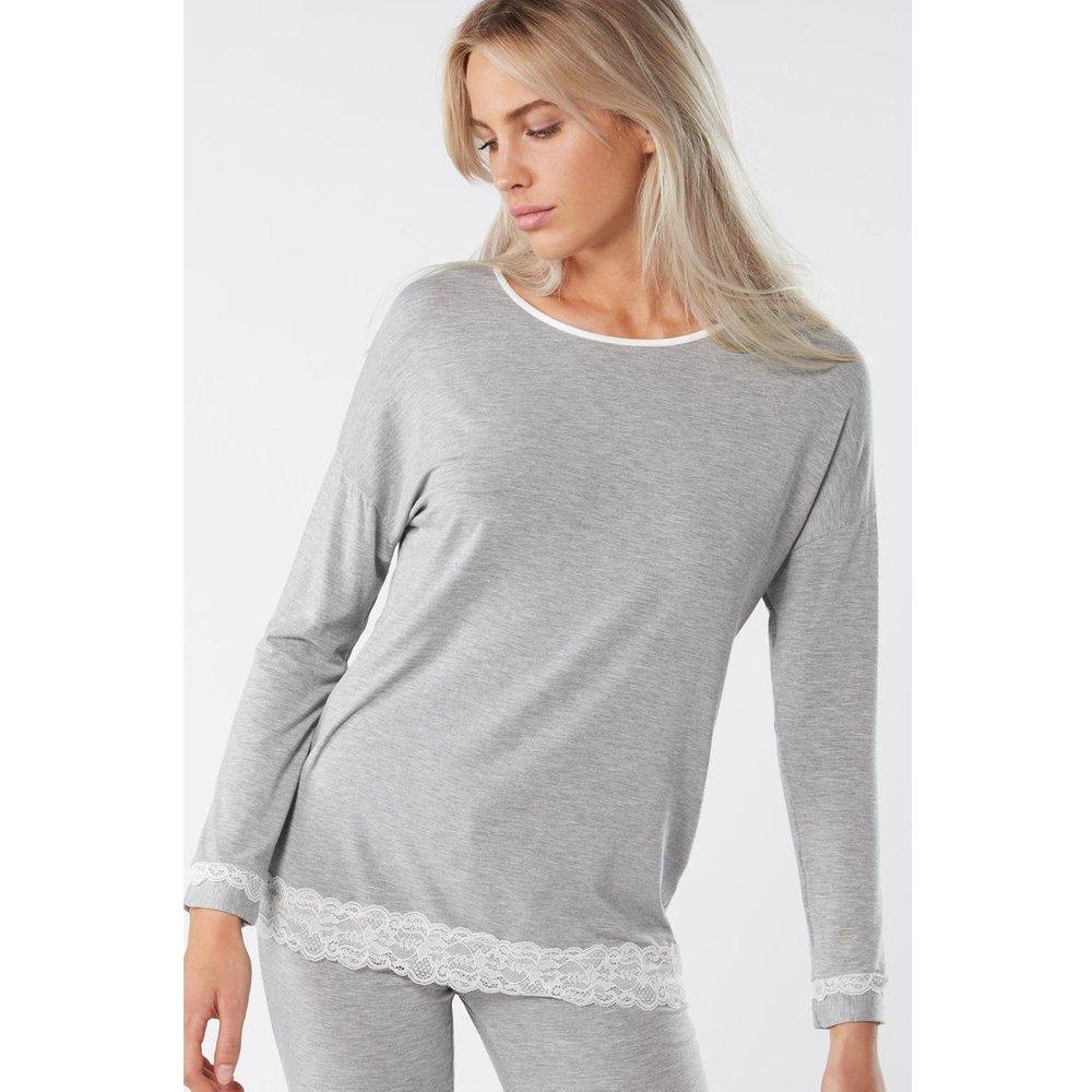 T-Shirt à manches longues en avec col rond - INTIMISSIMI - Modalova