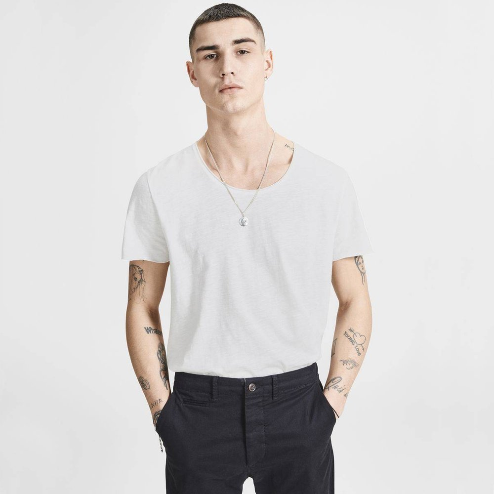T-shirt col rond manches courtes - jack & jones - Modalova