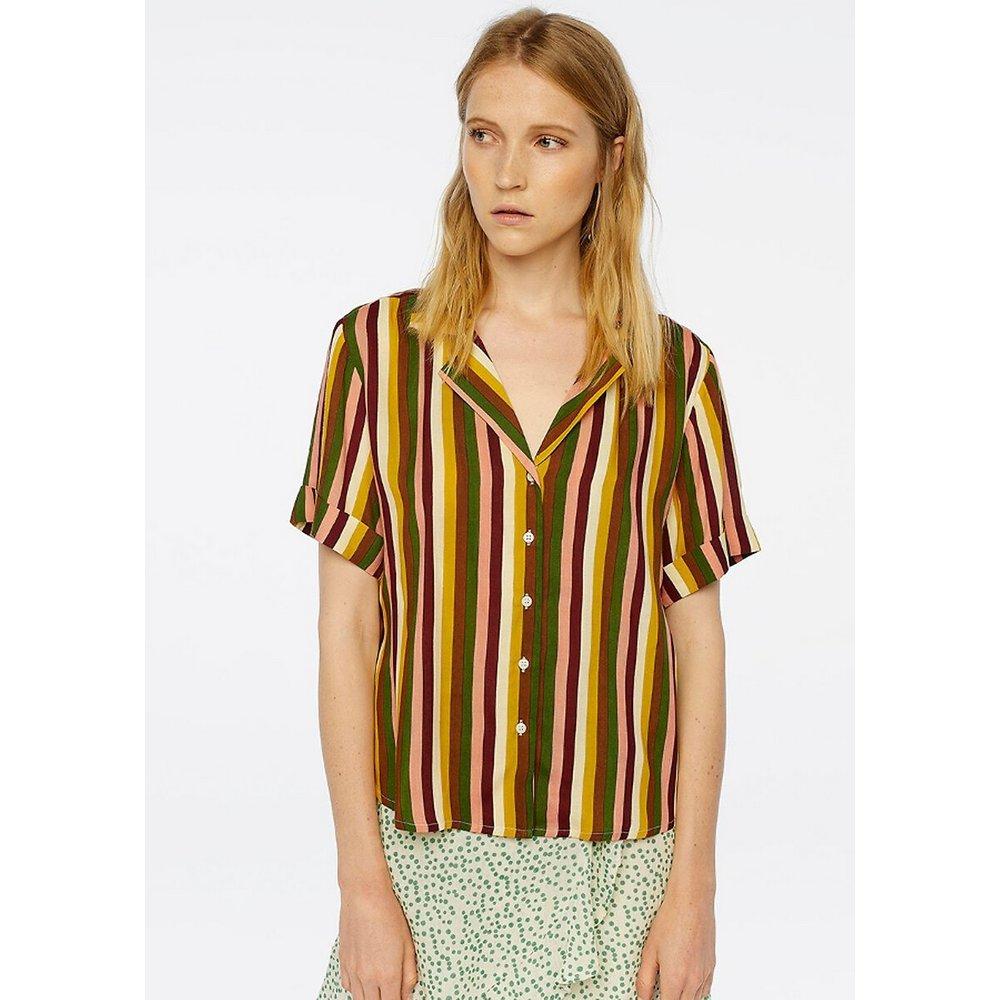 Chemise manches courtes rayée coupe ample - COMPANIA FANTASTICA - Modalova